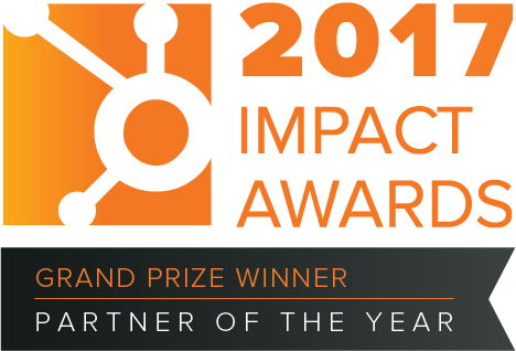 Hubspot Impact Awards Partner of the year 2017